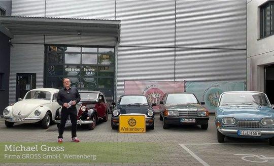Michael Gross und die Firma Gross GmbH unterstützen Oldtimerspendenaktion