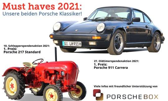 Porschebox unterstützt die Oldtimer- und Schlepperspendenaktion