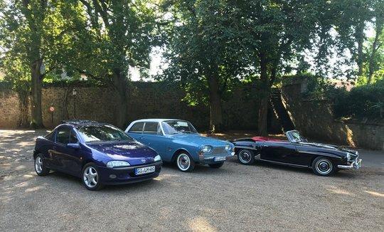 Auto Bild und Auto Bild Klassik beim Schloss Laubach
