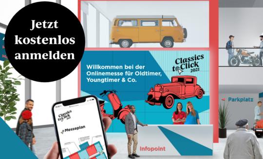 Wir laden herzlich ein:  Classics to Click  Onlinemesse für Oldtimer, Youngtimer und Co.