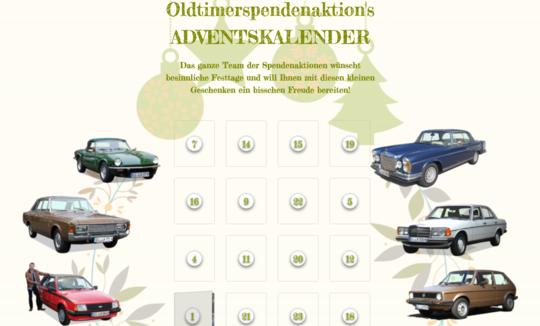 Oldtimerspendenaktion's   ADVENTSKALENDER 2020 ist da!